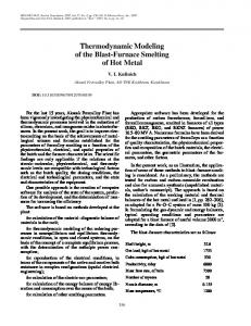 Thermodynamic modeling of the blast-furnace smelting of hot metal