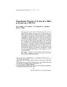 Thermodynamic Properties of Air from 60 to 2000 K at Pressures up to 2000 MPa