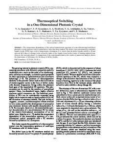 Thermooptical switching in a one-dimensional photonic crystal