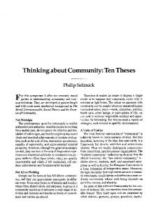 Thinking about community: Ten theses