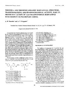 Thiourea and thiosemicarbazide derivatives: Structure, transformations, and pharmacological activity. Part IV. Protective action of 1,2,4-triazinoindole derivatives with respect to pulmonary edema