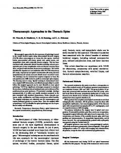 Thoracoscopic Approaches to the Thoracic Spine