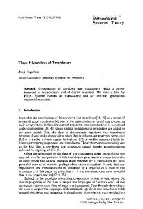 Three hierarchies of transducers