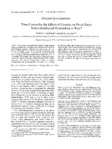 Time course for the effects of cocaine on fixed-ratio water-reinforced responding in rats