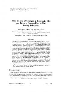 Time-course of changes in pancreatic size and enzyme composition in rats during starvation