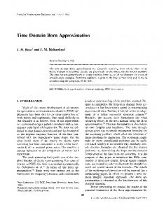 Time domain Born approximation