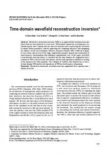 Time-domain wavefield reconstruction inversion