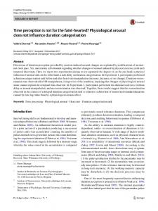 Time perception is not for the faint-hearted? Physiological arousal does not influence duration categorisation