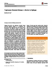 Topiramate Extended Release: A Review in Epilepsy