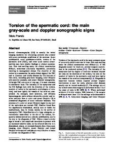 Torsion of the spermatic cord: the main gray-scale and doppler sonographic signs