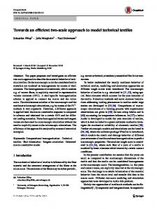 Towards an efficient two-scale approach to model technical textiles