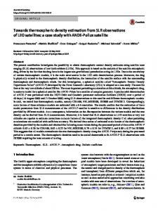 Towards thermospheric density estimation from SLR observations of LEO satellites: a case study with ANDE-Pollux satellite