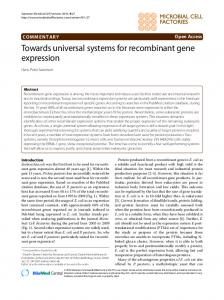 Towards universal systems for recombinant gene expression