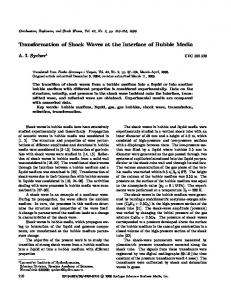 Transformation of shock waves at the interface of bubble media