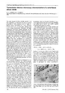 Transmission electron microscopy characterization of a ceria-fluxed silicon nitride