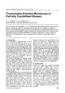 Transmission electron microscopy of partially crystallised glasses