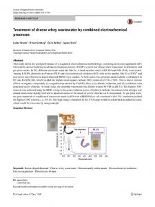Treatment of cheese whey wastewater by combined electrochemical processes