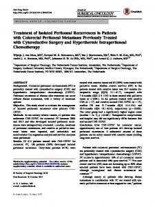 Treatment of Isolated Peritoneal Recurrences in Patients with Colorectal Peritoneal Metastases Previously Treated with Cytoreductive Surgery and Hyperthermic Intraperitoneal Chemotherapy