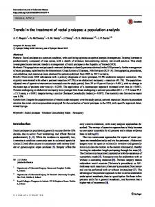 Trends in the treatment of rectal prolapse: a population analysis