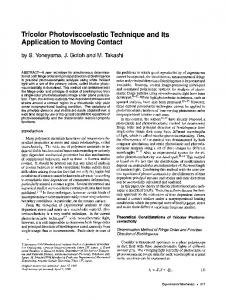 Tricolor photoviscoelastic technique and its application to moving contact