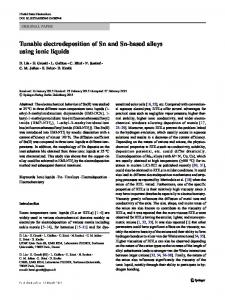 Tunable electrodeposition of Sn and Sn-based alloys using ionic liquids