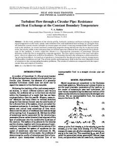 Turbulent flow through a circular pipe: Resistance and heat exchange at the constant boundary temperature