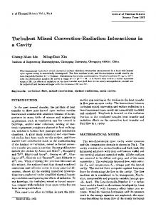 Turbulent mixed convection-radiation interactions in a cavity