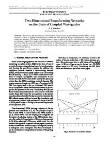 Two-dimensional beamforming networks on the basis of coupled waveguides