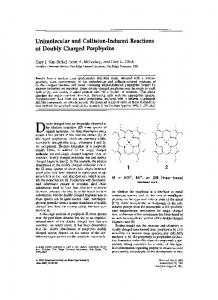 Unimolecular and collision-induced reactions of doubly charged porphyrins