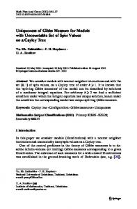 Uniqueness of Gibbs Measure for Models with Uncountable Set of Spin Values on a Cayley Tree