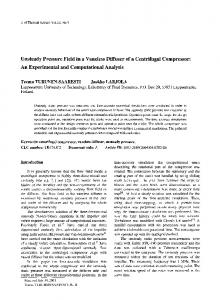 Unsteady pressure field in a vaneless diffuser of a centrifugal compressor: An experimental and computational analysis