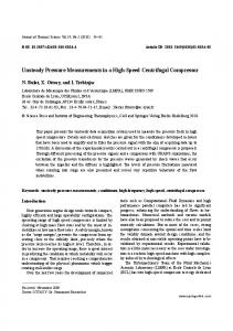 Unsteady pressure measurements in a high-speed centrifugal compressor