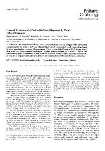 Unusual evolution of a pericardial mass diagnosed by fetal echocardiography
