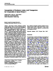 Upregulation of Excitatory Amino Acid Transporters by Coexpression of Janus Kinase 3