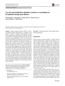 Use of a microchip flow-chamber system as a screening test for platelet storage pool disease