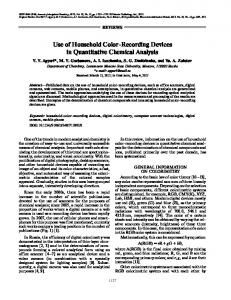 Use of household color-recording devices in quantitative chemical analysis