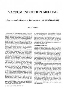 Vacuum induction melting: the revolutionary influence in steelmaking