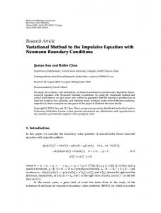 Variational Method to the Impulsive Equation with Neumann Boundary Conditions