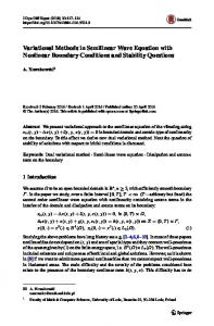 Variational Methods in Semilinear Wave Equation with Nonlinear Boundary Conditions and Stability Questions