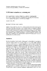 VCTS chart evaluation as a screening test