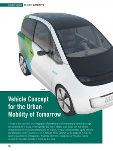 Vehicle Concept for the Urban Mobility of Tomorrow