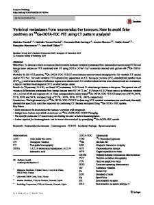 Vertebral metastases from neuroendocrine tumours: How to avoid false positives on 68Ga-DOTA-TOC PET using CT pattern analysis?