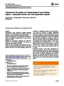Vitamins for Prevention of Contrast-induced Acute Kidney Injury: A Systematic Review and Trial Sequential Analysis