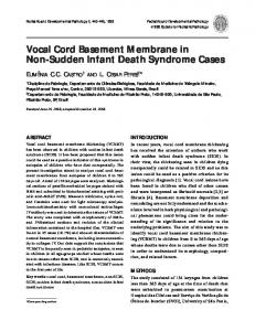 Vocal Cord Basement Membrane in Non-Sudden Infant Death Syndrome Cases