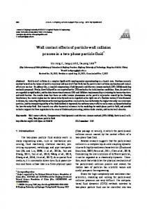 Wall contact effects of particle-wall collision process in a two-phase particle fluid