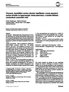 Warmed, humidified carbon dioxide insufflation versus standard carbon dioxide in laparoscopic cholecystectomy: a double-blinded randomized controlled trial