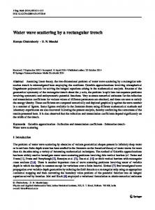 Water wave scattering by a rectangular trench