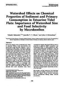 Watershed Effects on Chemical Properties of Sediment and Primary Consumption in Estuarine Tidal Flats: Importance of Watershed Size and Food Selectivity by Macrobenthos