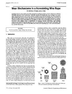 Wear mechanisms in a nonrotating wire rope