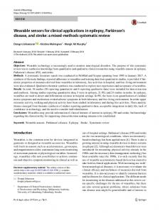Wearable sensors for clinical applications in epilepsy, Parkinson's disease, and stroke: a mixed-methods systematic review